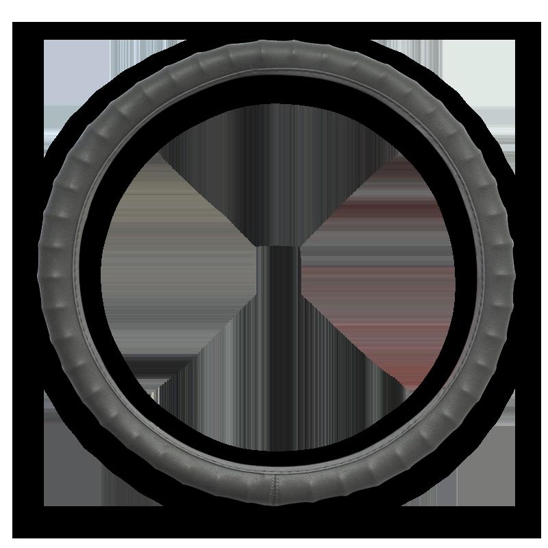 Massage and Vinyl Steering Wheel, Grey
