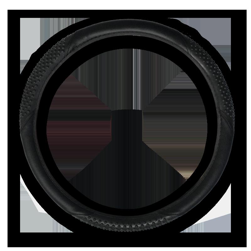 Black Massage Vinyl Steering Wheel