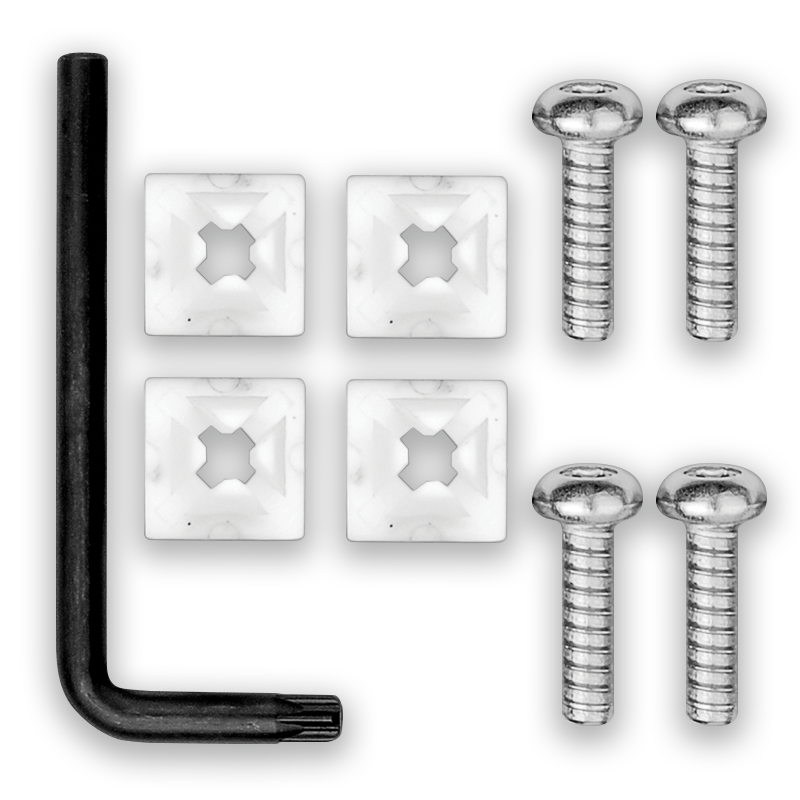 Screws and Plate for Licenses