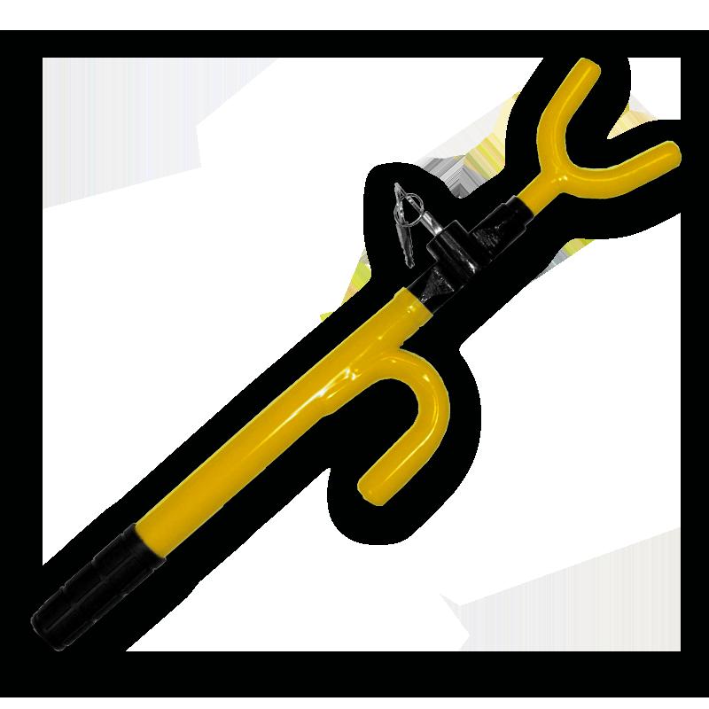 Yellow Steering Wheel Lock